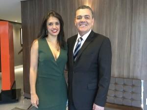 Valéria Lemos e Sérgio Murilo Braga, sócios do escritório SMB na cerimônia de posse da nossa diretoria da OAB MG